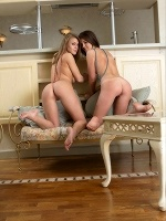 Lana K And Vanea H By Ulyana In Dinner For Two ::: Femjoy :::