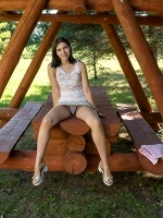 Zhenya Mille By Tora Ness In Picnic Table ::: Met Art :::