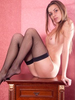 Arina In Just Fishnet Stockings ::: Skokoff :::