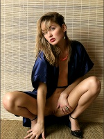 Lilya Blue Satin - Photo 1