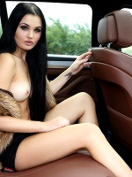 Celeste T In Comfort In The Car ::: Watch4beauty :::