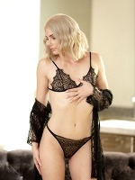 Nella Jones In Nella Black Lace Lingerie - Photo 1